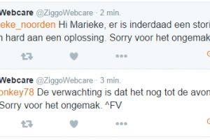 Storing in Ziggo mail
